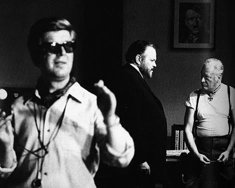 Tomislav Pinter na snimanju filma s Orsonom Walesom