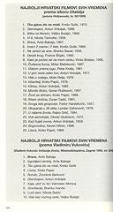 vo Škrabalo: Hrvatska filmska povijest ukratko (1896-2006), V.B.Z, 2008.