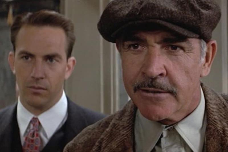 Sean Connery i Kevin Costner, <em>Nedodirljivi</em> (<emk>The Untouchables</em>), 1987., red. Brian De Palma